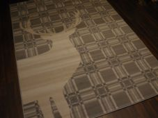 Modern Approx 8x5ft 160cmx230cm Woven Backed Quality rugs stag Check Large Grey